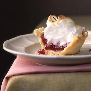 Mini Cranberry Meringue Pie.