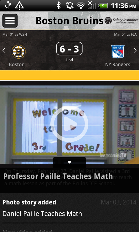 Boston Bruins Official App - screenshot
