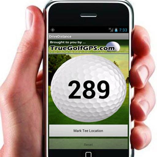 運動必備App GOLF DRIVE DISTANCE FREE GPS LOGO-綠色工廠好玩App
