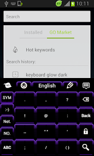 Keyboard Color Neon Purple - screenshot thumbnail