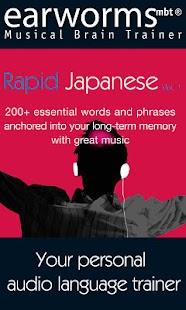 Earworms Rapid Japanese Vol.1- screenshot thumbnail