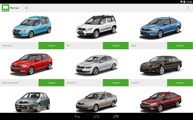 ŠKODA Manual - screenshot