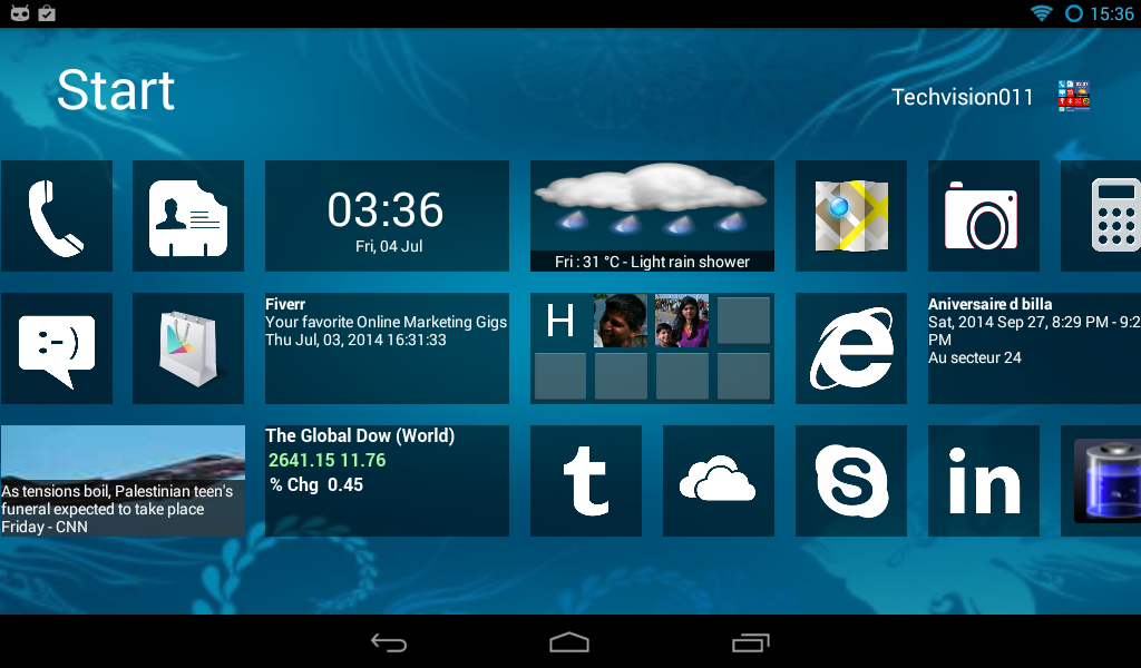 Home8+ like Windows 8 Launcher - screenshot