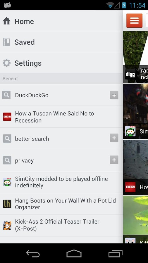 DuckDuckGo Search & Stories - screenshot