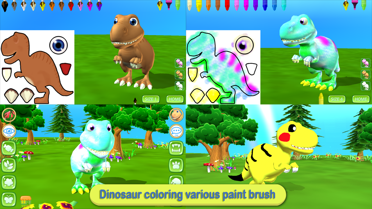 Dinosaur colouring in games - Dinosaur Coloring 3d Ar Screenshot