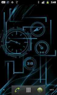Neon Clock GL Live wallpaper - screenshot thumbnail