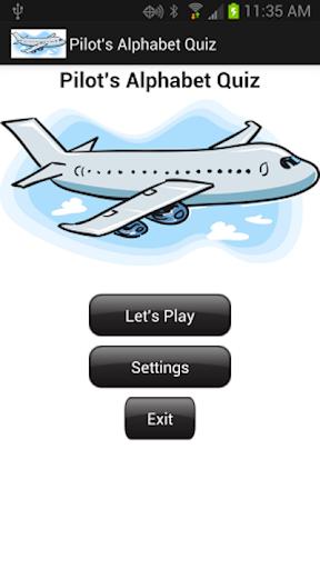 Pilot's Alphabet Quiz