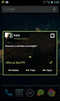 Screenshot of Go SMS Theme Black Minimal