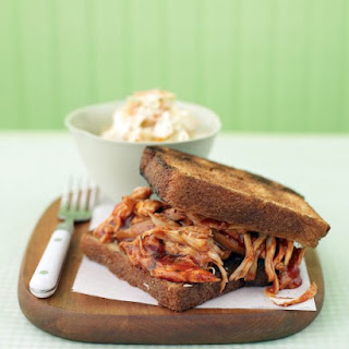 Barbecued Chicken on Garlic Toast