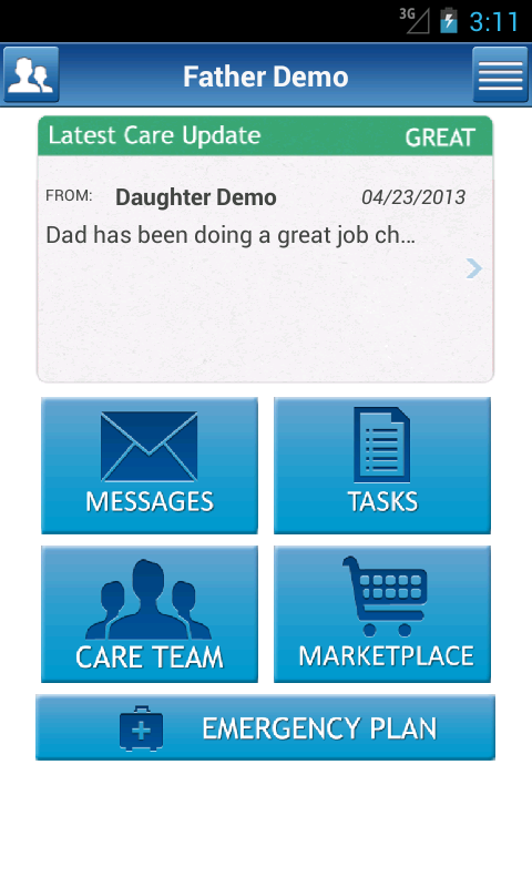 Making Care Easier- screenshot