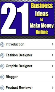21 Ideas to Make Money Online - screenshot thumbnail