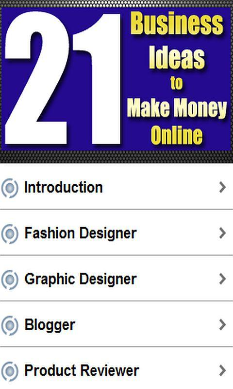 21 Ideas to Make Money Online - screenshot