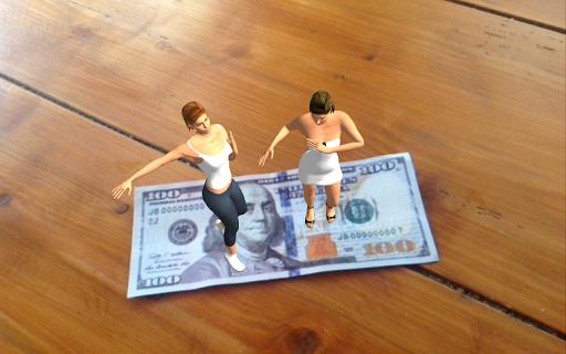 AR Dancing on Paper Money