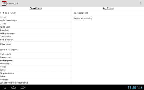 Automated Menu Planner - screenshot thumbnail