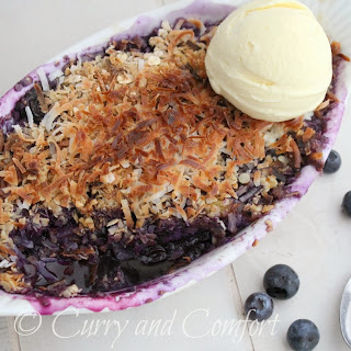 Blueberry and Pineapple Crumble with Coconut