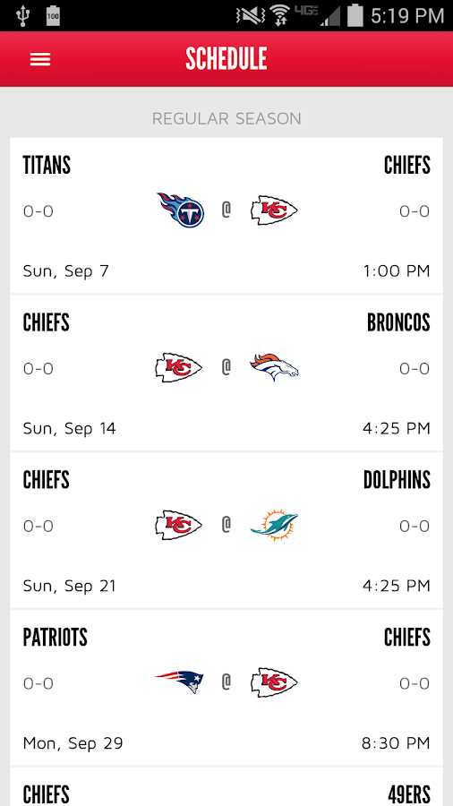 Chiefs Mobile- screenshot