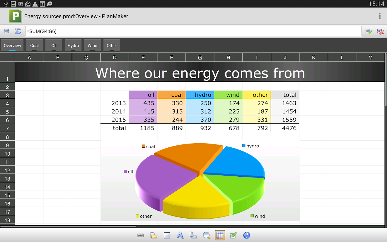 FREE Office: PlanMaker Mobile - screenshot