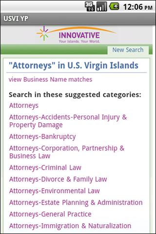 USVI YP - screenshot
