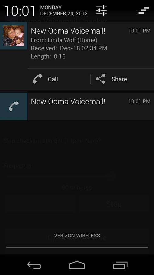 Voicemail Checker for Ooma - screenshot