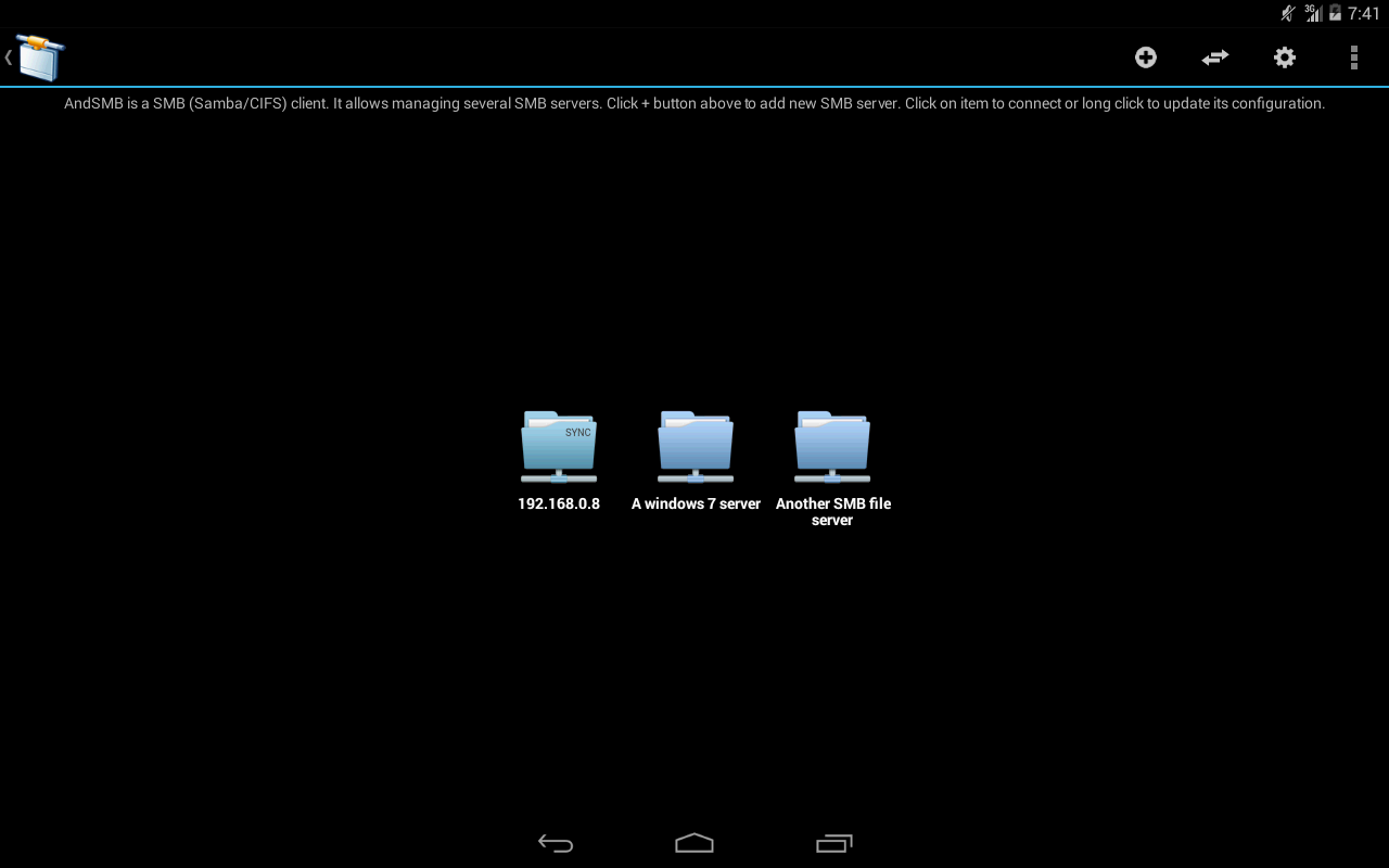 AndSMB (samba client) - screenshot