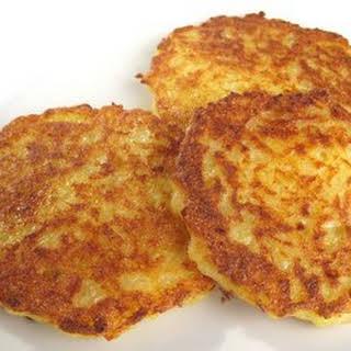 Bavarian Kartoffelpuffer, Reibekuchen, Reiberdatschi - Potato Pancakes.