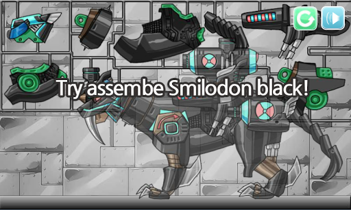 Dino Robot - Smilodon Black