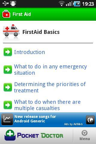 Pocket First Aid Pro - screenshot