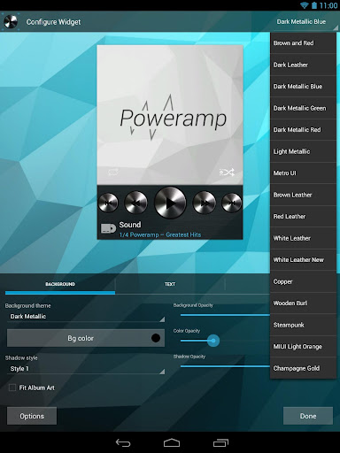 Poweramp Widgets Kit