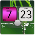 Flip Clock NicePink Widget 4x2 icon