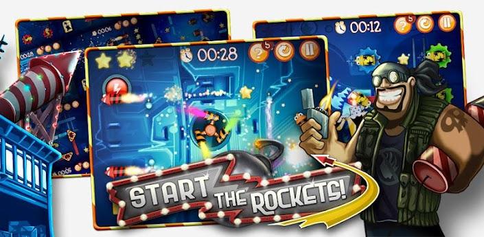 Start the Rockets! (Пуск ракеты) - головоломка похожая на Angry Birds скачать