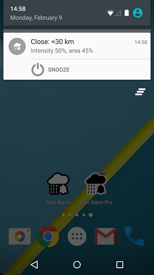 Rain Alarm - screenshot