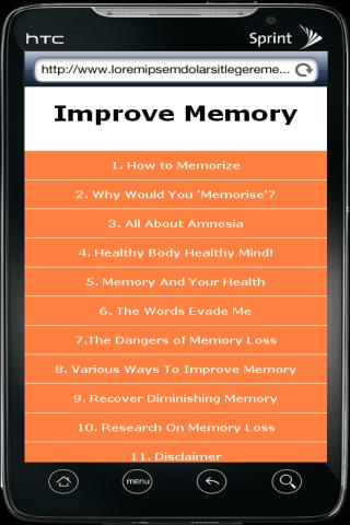 Improve Memory - screenshot
