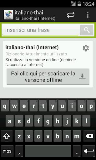 Italiano-Thai Dizionario
