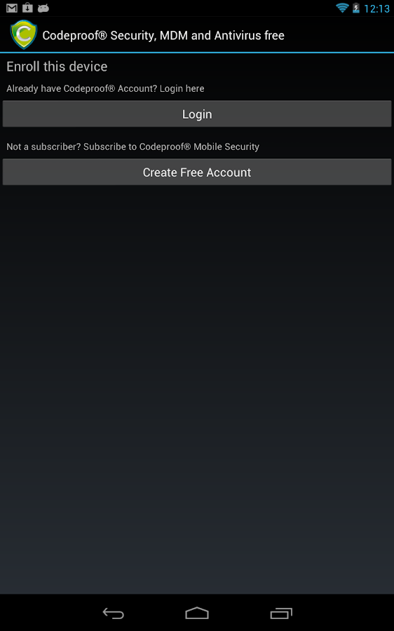 Codeproof MDM & Antivirus Free - screenshot