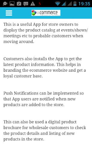 osCommerce Catalog Mobile App