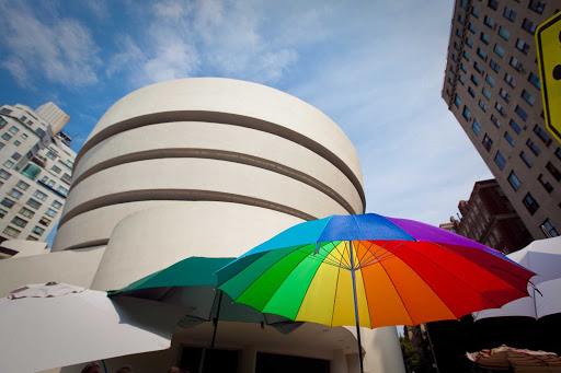 The Solomon R. Guggenheim Museum in New York,   designed by famed architect Frank Lloyd Wright.
