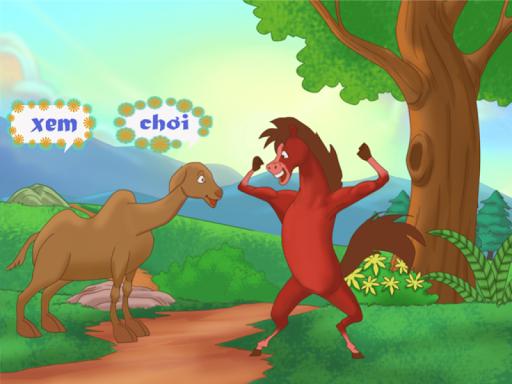 Lạc đà và ngựa đỏ