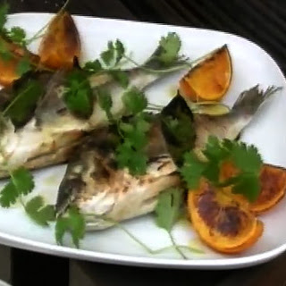Sea Bream with Caramelised Oranges and Coriander