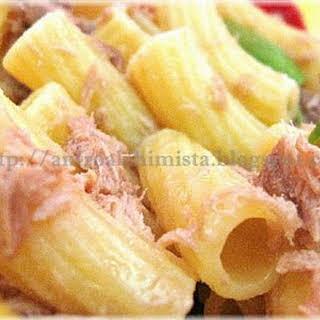 Pasta with Tuna and Basil.