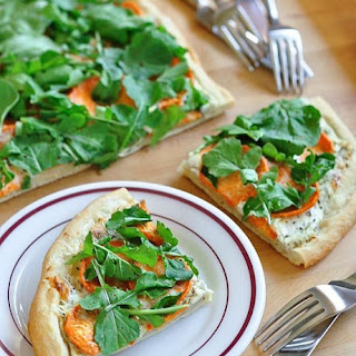 Sweet Potato, Ricotta, and Arugula Flatbread.