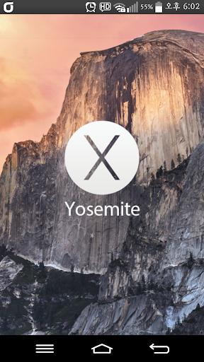 카카오톡 테마 _매킨토시 맥 OS X Yosemite