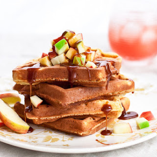 Salted Caramel Apple Waffles Recipe