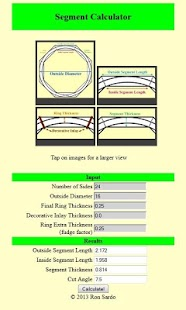Woodturning Segment Calculator- screenshot thumbnail