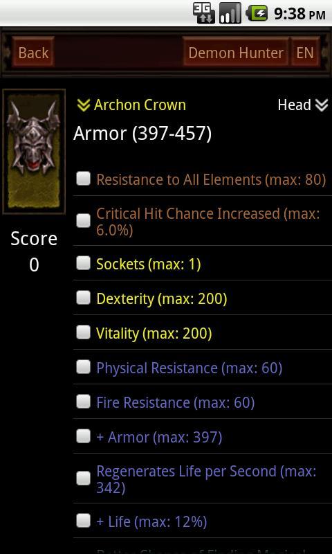 Diablo3 Item Surveyor - screenshot