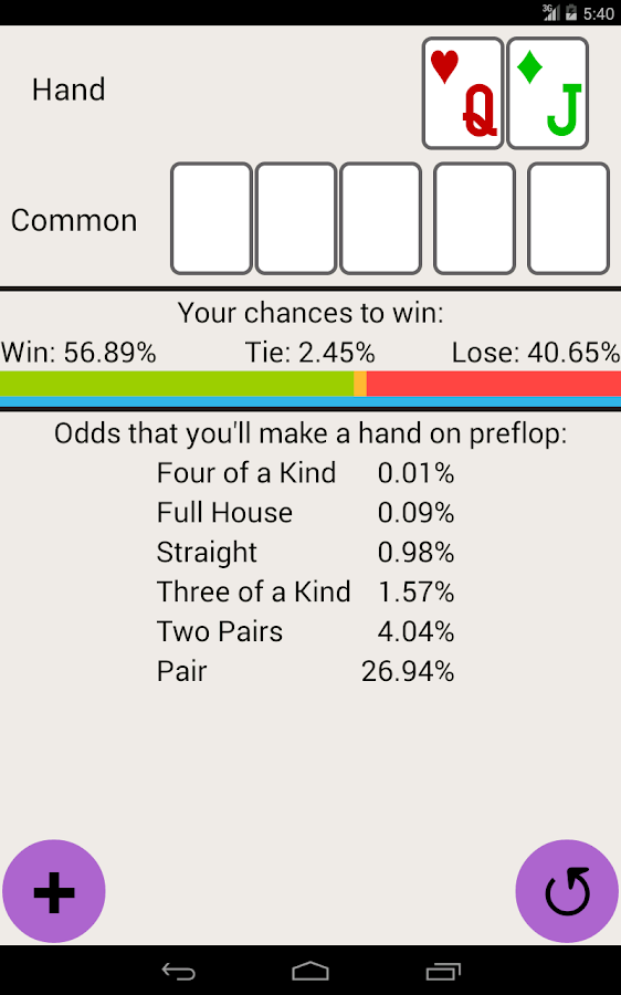 hold em odds android apps on play