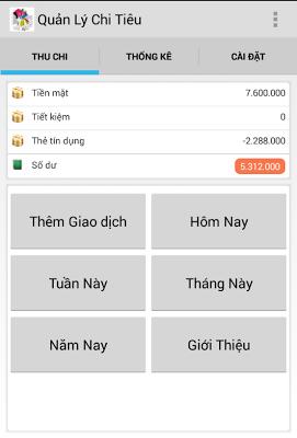 Quản lý Chi tiêu - screenshot