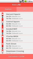 Screenshot of Red Line Boston Subway MBTA