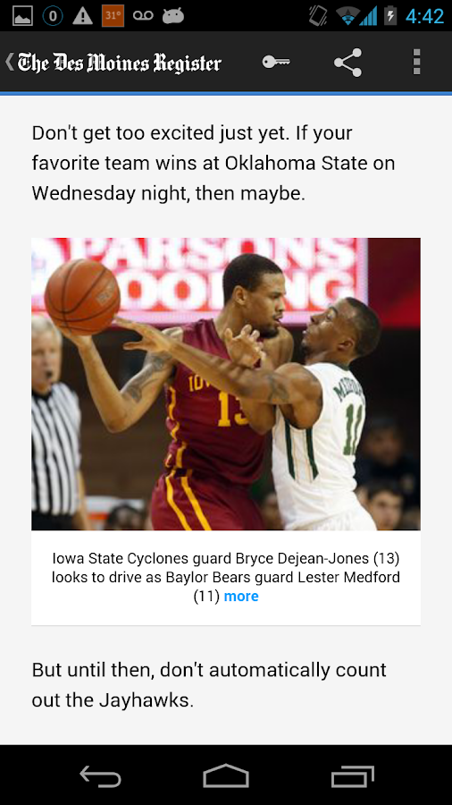 Des Moines Register- screenshot