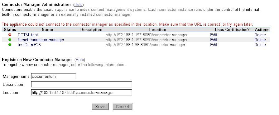 Unable to connect to the connection manager error