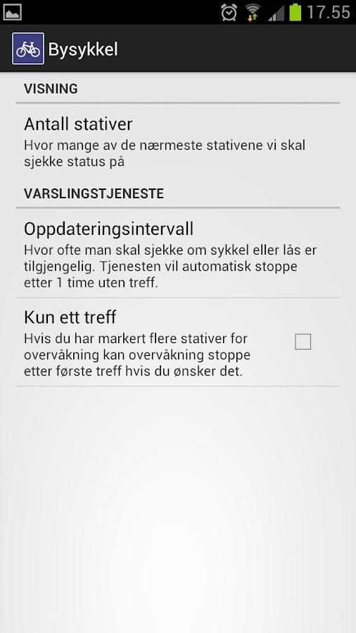 Bysykkel Oslo - screenshot